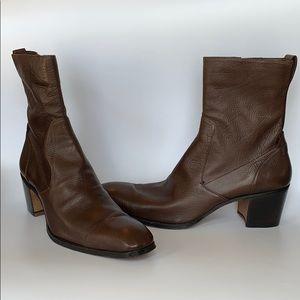 Yves Saint Laurent Rive Gauche Brown Boots Size 42